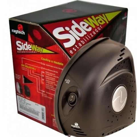 ESTABILIZADOR DE TENSAO MICROP SIDE WAY SDW 300QN M1S60HZ BLACK 115/115V   ( 5301 ) RAGTECH