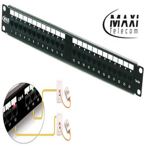 PATCH PANEL 24 PORTAS CAT 5E MAXI